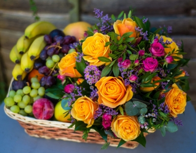 Fruit and Flower Hamper.