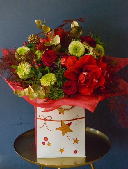 Rudolph's Nose Hand tied Bouquet
