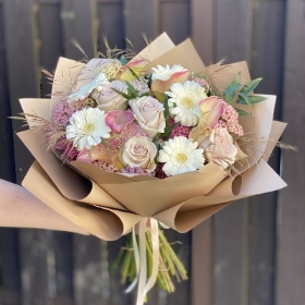 Cream Sensational Hand Tied Bouquet