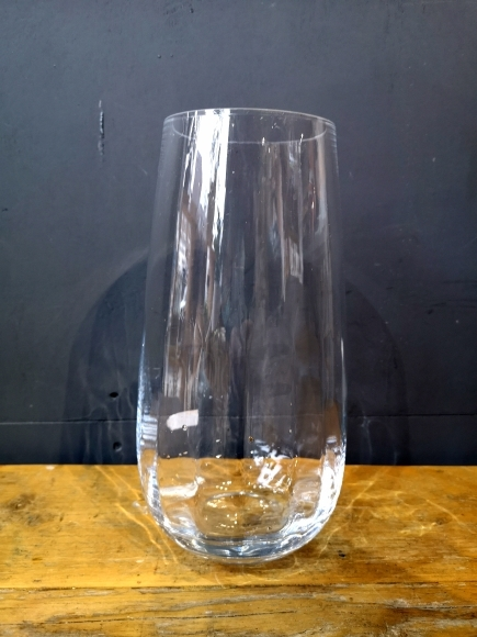 Crystal tall glass vase