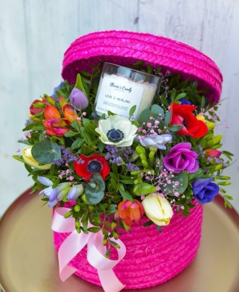 Goddies Basket with Candle