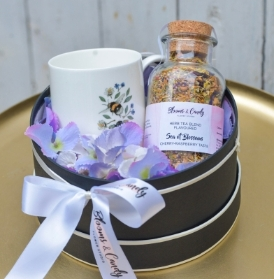 Herbal Tea and Bone China Mug Gift Set