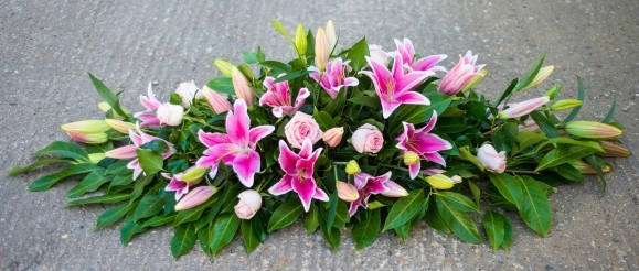 Lily & Rose Coffin Spray