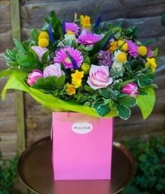 Mixed Pinks Hand Tied Bouquet