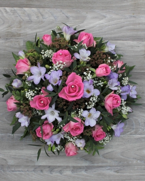 Pink Rose and Lilac Freesia Posy