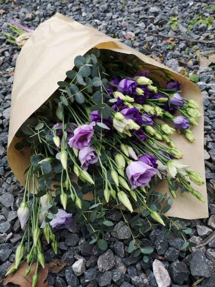 Purple Lisianthus Wrap