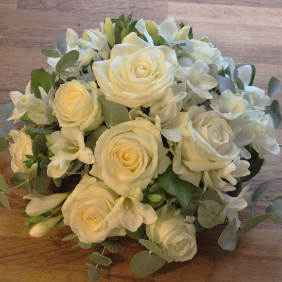 White Rose and Freesia Posy